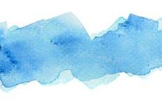 Fundo azul vívido da aquarela ilustração royalty free