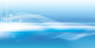 Fundo azul vívido tecnológico ilustração stock