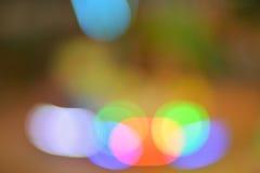 Fundo azul verde vermelho da luz do sumário do bokeh Foto de Stock
