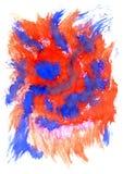 Fundo azul vermelho Fotos de Stock Royalty Free