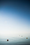 Fundo azul vertical do verão Fotografia de Stock Royalty Free