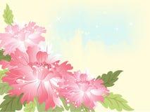 Fundo azul Wedding com flor ilustração royalty free