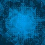 Fundo backgroundelegant do triângulo do mosaico do triângulo azul do mosaico Imagens de Stock