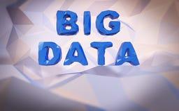 Fundo baixo-poli abstrato Conceito da palavra Dados grandes do texto Fotos de Stock