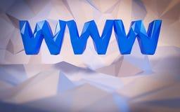 Fundo baixo-poli abstrato Conceito da palavra Texto WWW Foto de Stock Royalty Free