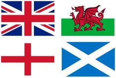 Fundo, bandeiras BRITÂNICAS Fotografia de Stock Royalty Free