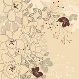 Fundo bege claro floral à moda Imagens de Stock