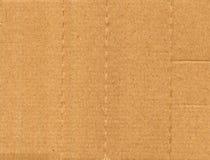 Fundo bege da textura do cartão ondulado Imagem de Stock