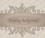Fundo bege do casamento Foto de Stock