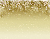 Fundo bege do Natal com flocos de neve e estrelas, vetor ilustração royalty free