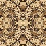 Fundo bege do vetor da camuflagem do deserto Imagem de Stock