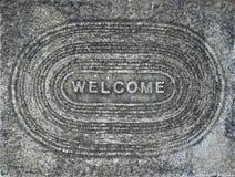 Fundo bem-vindo do concreto Fotografia de Stock