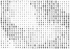 Fundo binário do código de computador Foto de Stock Royalty Free