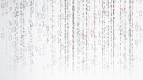 Fundo binário do Cyberspace Conceito da codificação ou do hacker Estilo da matriz Ilustração do vetor ilustração royalty free