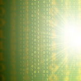 Fundo binário do verde 3d da tecnologia abstrata Foto de Stock