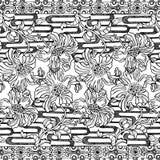 Fundo boémio aciganado floral do estilo ilustração do vetor