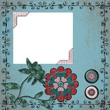 Fundo boémio aciganado floral do Scrapbook da tapeçaria Fotos de Stock Royalty Free