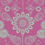 Fundo boémio aciganado floral Funky do estilo ilustração royalty free