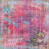 Fundo boêmio tropical Beachy do álbum de recortes da tapeçaria foto de stock
