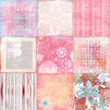 Fundo boémio tropical Beachy do Scrapbook da tapeçaria Imagem de Stock