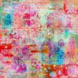Fundo boémio da textura da cor de água do batik Fotos de Stock Royalty Free