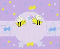Fundo bonito com abelhas Fotos de Stock
