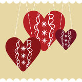 Fundo bonito com corações ilustração stock