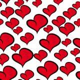 Fundo bonito com corações Fotografia de Stock Royalty Free