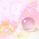 Fundo bonito com esfera de vidro Foto de Stock