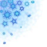Fundo bonito com flocos de neve ilustração stock