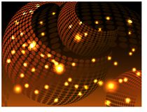 Fundo bonito com formas circulares, ouro do brilho ilustração royalty free