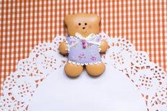 Fundo bonito com urso do mel-bolo Imagens de Stock