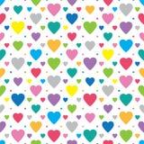 Fundo bonito da coleção dos corações ilustração royalty free