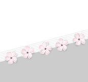 Fundo bonito da flor da mola ilustração royalty free