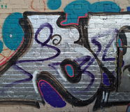 Fundo bonito da parede dos grafittis Foto de Stock