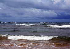 Fundo bonito da praia tropica do oceano Fotografia de Stock Royalty Free