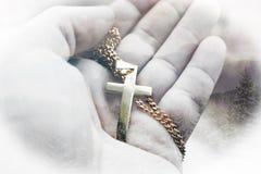 Fundo bonito de Jesus Christ Symbol With Forest do ouro imagem de stock royalty free