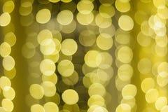Fundo bonito do bokeh do ouro do Natal com espaço vazio da cópia foto de stock royalty free