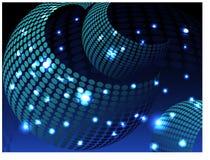 Fundo bonito do brilho com as formas circulares, azuis ilustração royalty free