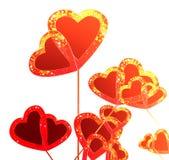 Fundo bonito do corte dos corações Imagem de Stock