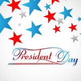 Fundo bonito do dia dos presidentes das estrelas colorido Fotografia de Stock