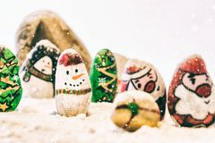 Fundo bonito do Feliz Natal e do ano novo feliz no fundo branco Fotografia de Stock