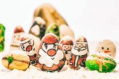Fundo bonito do Feliz Natal e do ano novo feliz no fundo branco Foto de Stock Royalty Free