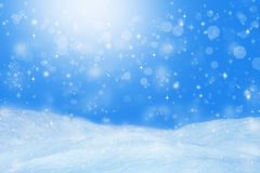 Fundo bonito do inverno Paisagem com bokeh Imagem de Stock Royalty Free
