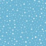 Fundo bonito do inverno - teste padrão da neve Fotografia de Stock Royalty Free