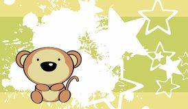Fundo bonito do macaco do bebê Imagem de Stock