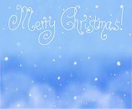 Fundo bonito do Natal (ano novo) com os flocos de neve para o uso do projeto Imagem de Stock
