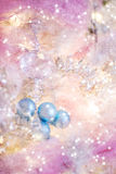 Fundo bonito do Natal em azuis e em ouro dos rosa Fotografia de Stock Royalty Free