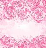 Fundo bonito do projeto da rosa ilustração do vetor
