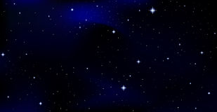 Fundo bonito do vetor com constelações no céu noturno estrelado Imagem de Stock Royalty Free